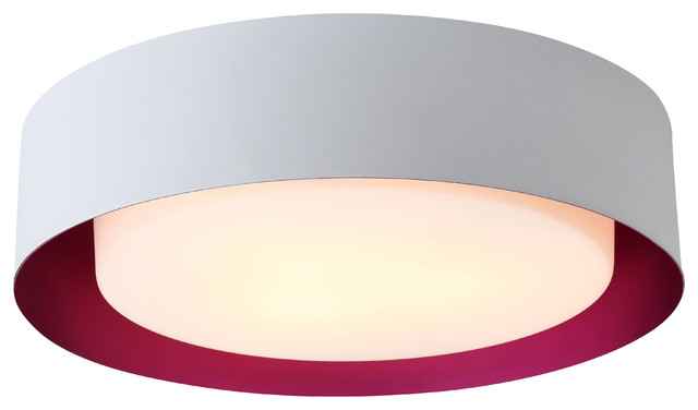 Bromi Design Lynch White And Purple Flush Mount Ceiling Light