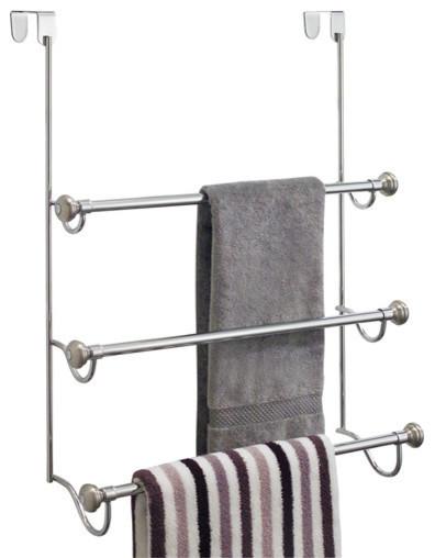 InterDesign York Metal Hand Towel Holder for Bathroom Vanities Split Bronze