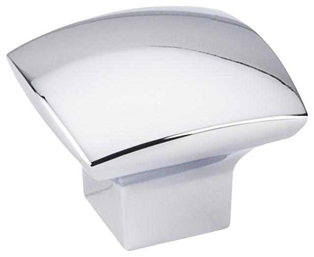 1-3/16&x27;&x27; Overall Length Zinc Diecast Cabinet Knob, Polished Chrome.