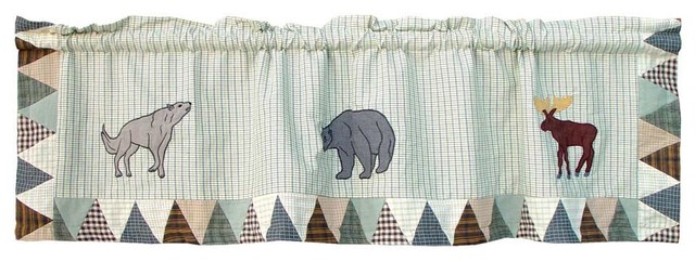 "Mountain Whispers Curtain Valance 54""x16""."