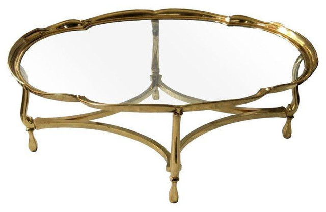 Vintage Brass and Glass Coffee Table1350 Est Retail945