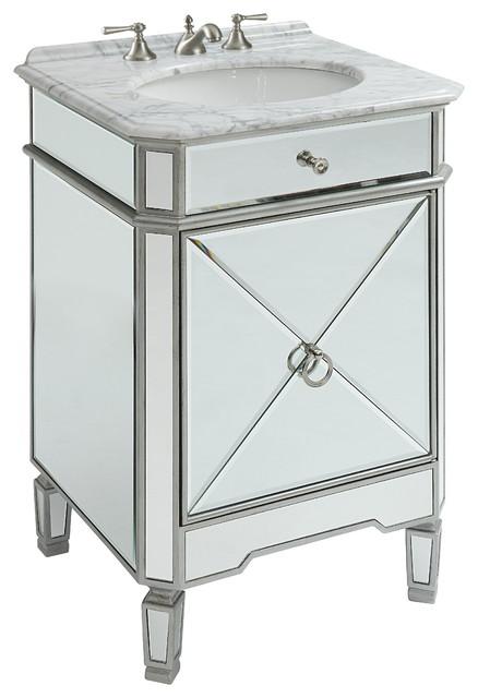 24 Mirror Reflection Silver Asger Powder Room Bathroom Vanity 5026sc Bathroom Vanities And Sink Consoles By Chans Furniture Showroom