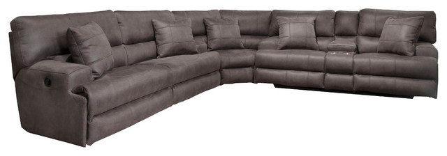 Awe Inspiring Catnapper Monaco 762181 Power Lay Flat Reclining Sectional Charcoal Forskolin Free Trial Chair Design Images Forskolin Free Trialorg