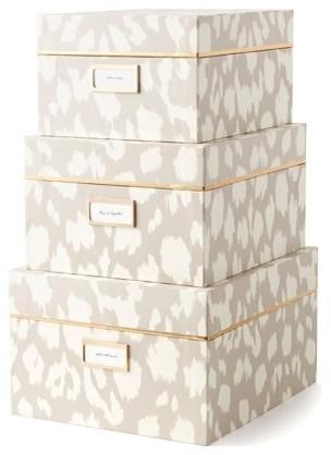 Bon Kate Spade Ikat Nesting Boxes, Taupe