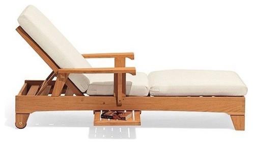 Teak Outdoor Caranas Chaise Lounger