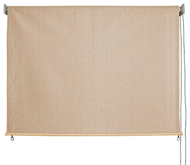 Outdoor Non Valanced Cord Operated Sunshade Quartz Fabric