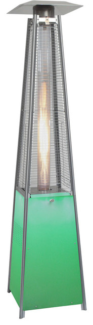 Square Propane Patio Heater With Stainless Steel Frame And Led Lighted Base.