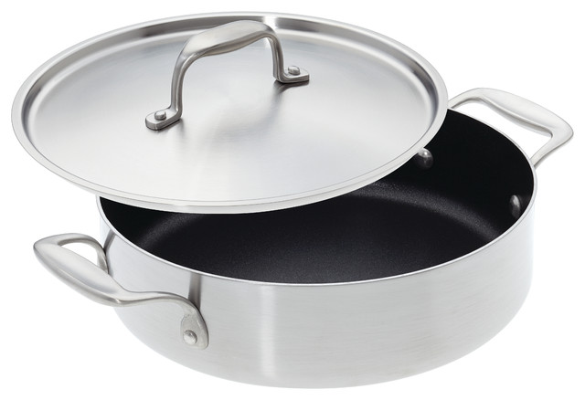 American Kitchen Cookware Nonstick Casserole Pan with Lid, 10\