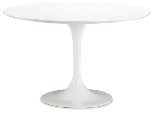 Fine Mod Imports Flower Table, White, 30 by Fine Mod Imports