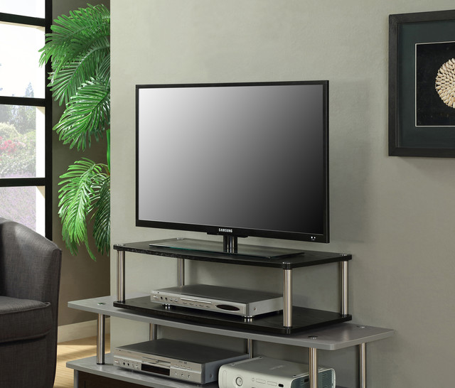 2 Tier Swivel Stand Contemporary Entertainment Centers
