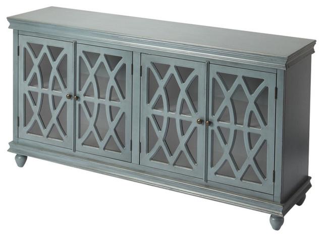 Bedford Wooden Sideboard, Blue.