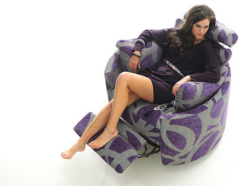 orbit fabric reclining chair