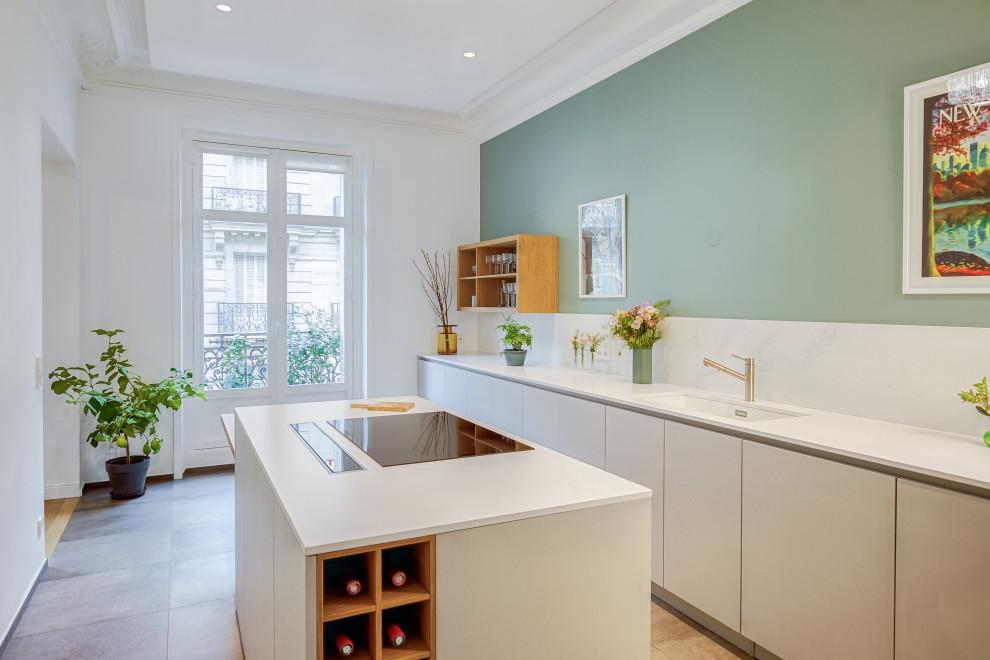 Kitchen - contemporary kitchen idea in Paris