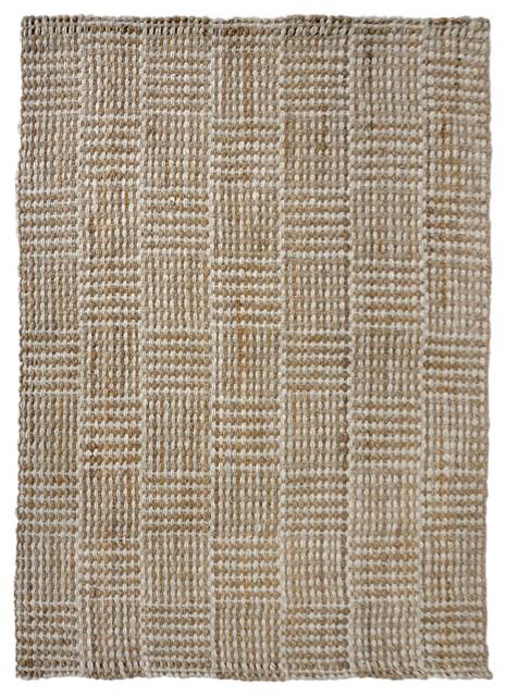 Liora Manne Terra Squares Indoor Rug, Natural, 7&x27;6x9&x27;6.