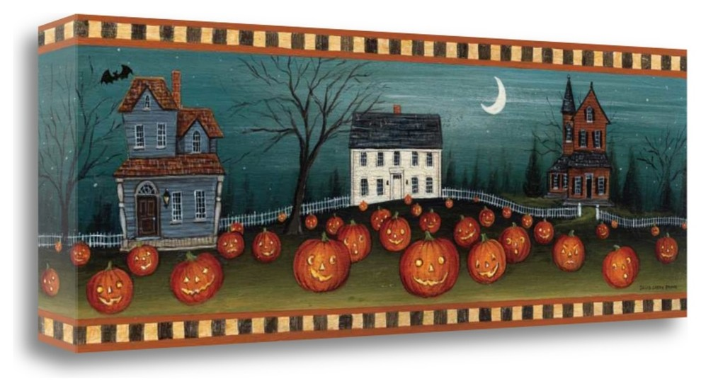 Halloween Eve Crescent Moon By David Carter Brown Contemporary Prints And Posters By Tangletown Fine Art