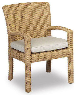 leucadia dining chair with cushions cushions canvas flax beachstyle outdoor