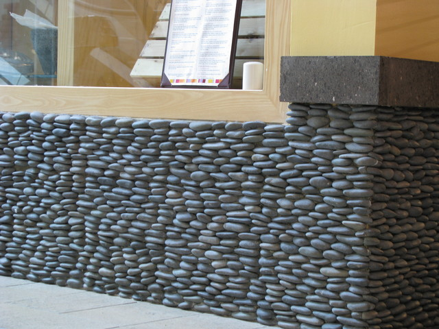 Save Zen Paradise Standing Pebble Tile Installations
