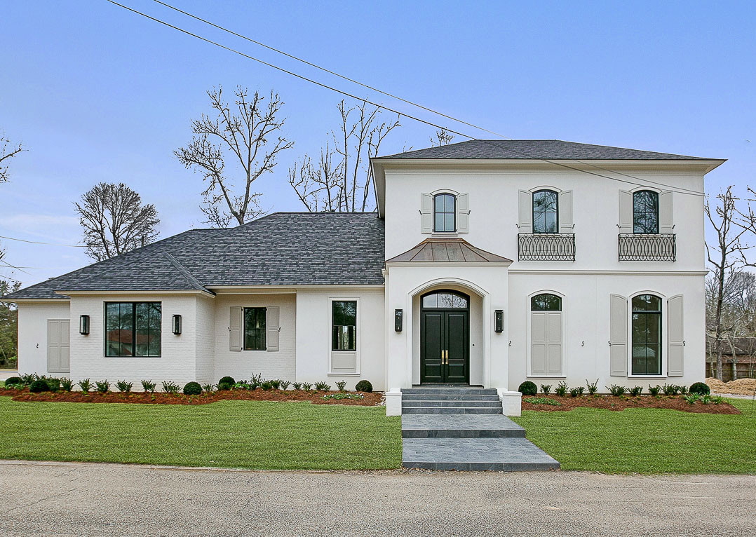 Bricklin Dr.  |  Louisiana French Transitional | Front Elevation - Baton Rouge |