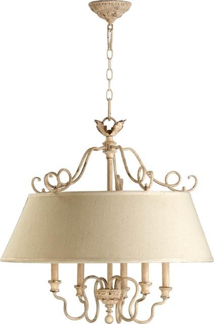 Salento 5 Light Pendant In Persian White