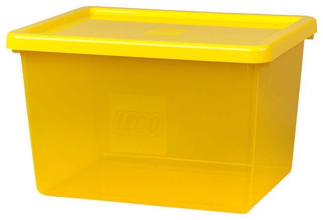 Lego Transparent Large Storage Bin With Lid And Sorting