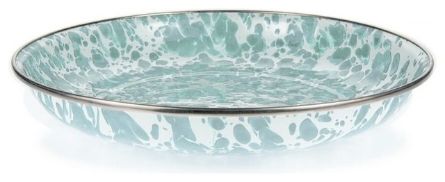 Sea Glass Pasta Plate Set Of 4 Traditional Dinner