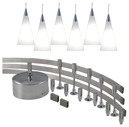 Flexible track light for pendant light and spot light led combo aloadofball Gallery