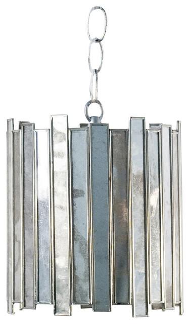 Small Antique-Style Mirror Facet Pendant.