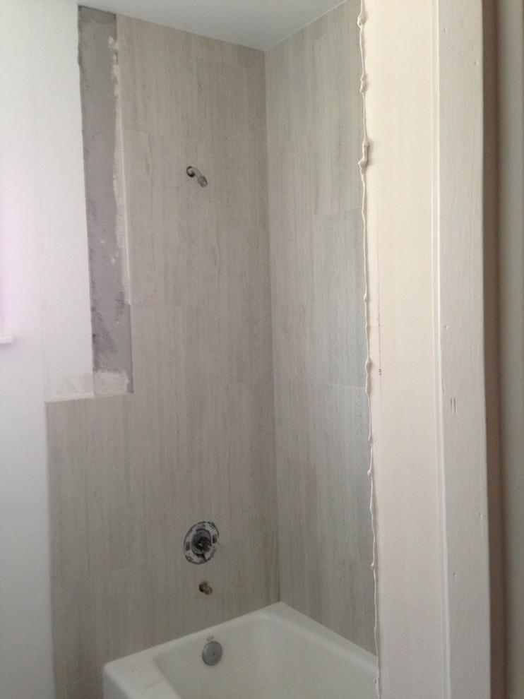 Larger bath tile in work