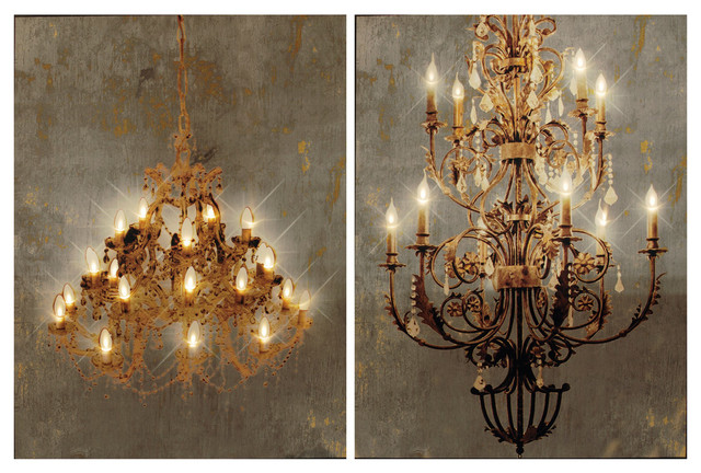 Canvas Prints Chandelier With Led