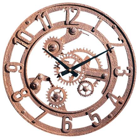 Small Arabic Gear Wall Clock