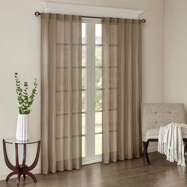 Window Panel Pair In Taupe Finish Mp40
