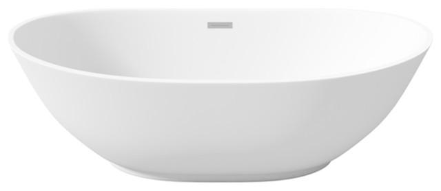 "Latoscana Perlato Roma 62"" Freestanding Soaker Tub."