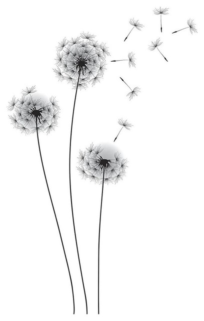 Whimsical Dandelion Peel And Stick Giant Wall Decals.
