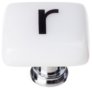 New Vintage Square Letter R - Contemporary - Cabinet And Drawer Knobs ...