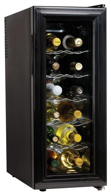 12 Bottle Slim Countertop Wine Cellar Contemporary