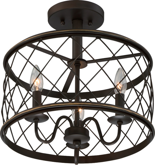 Luxury French Country Bronze Drum Cage Ceiling Light, Uql2266, York Collection.