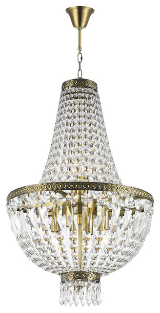 french empire 6light antique bronze finish clear crystal basket mini chandelier