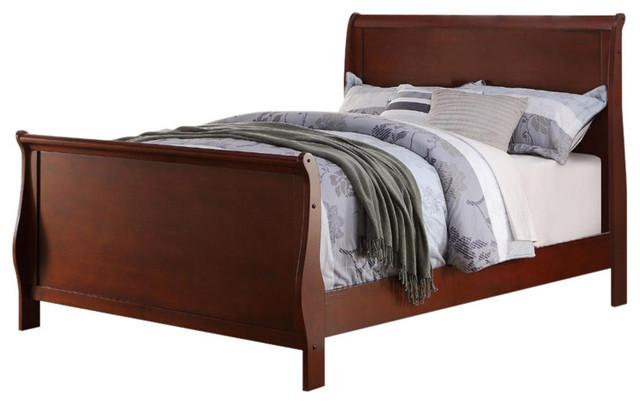 Full Wooden Bed, Cherry.