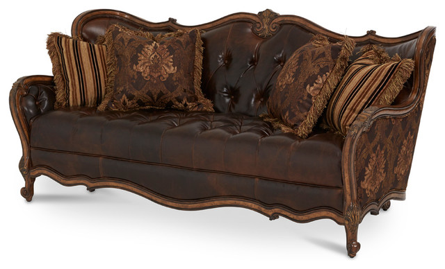 Aico amini innovation lavelle melange leather and fabric 4 - Victorian living room set for sale ...