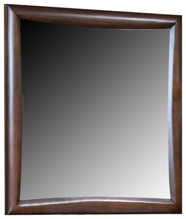 Coaster Hillary Scottsdale Mirror, Walnut - Transitional - Wall Mirrors - by Bedroom Furniture ...