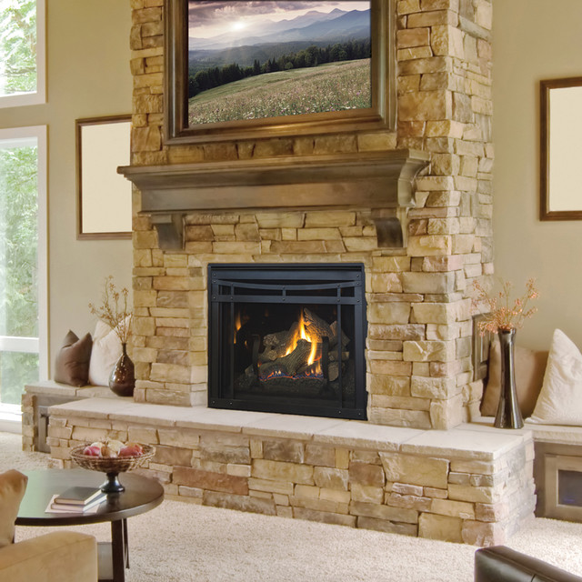 Envy traditional fireplace design collection by astria for Building an indoor fireplace
