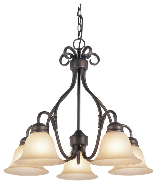 Traditional Classic 5 Light Down Lighting Chandelier