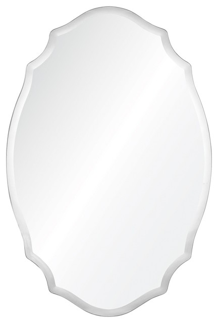 Tia Frameless Oval Mirror.