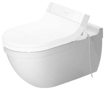 Duravit Starck 3 Wall Mounted Toilet Bowl 14 1 8 X24 3 8 Dual Flush White Contemporary Toilets By Buildcom