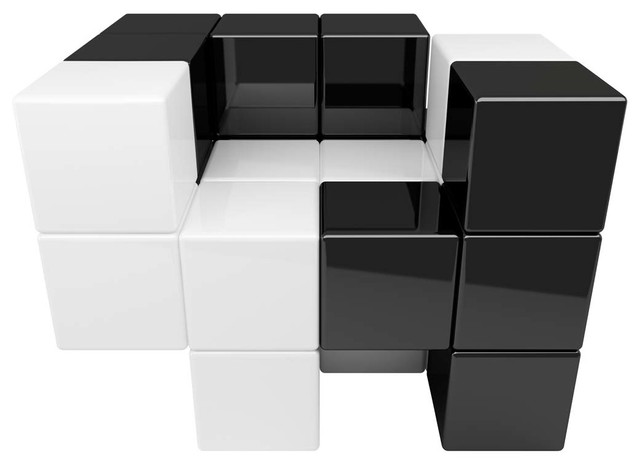 Tetris Chair, Black And White Contemporary Armchairs And Accent Chairs