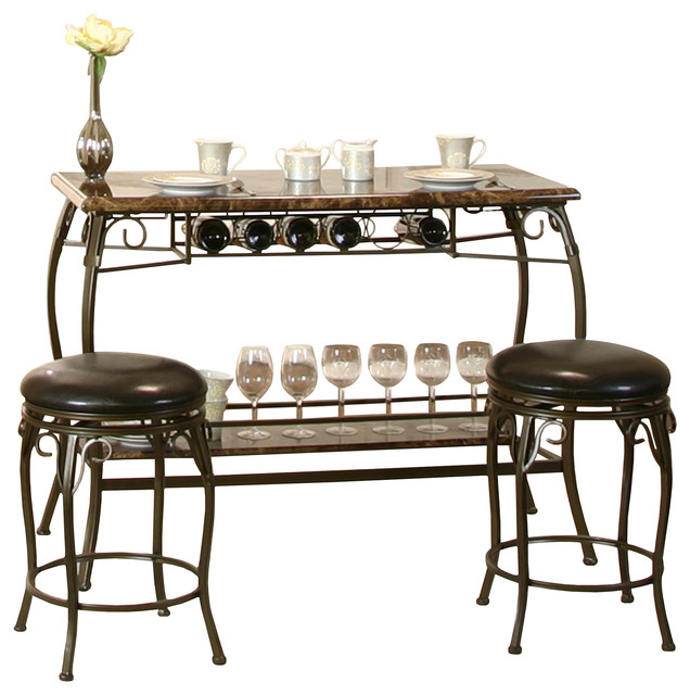 Modern Bar Table, Black.