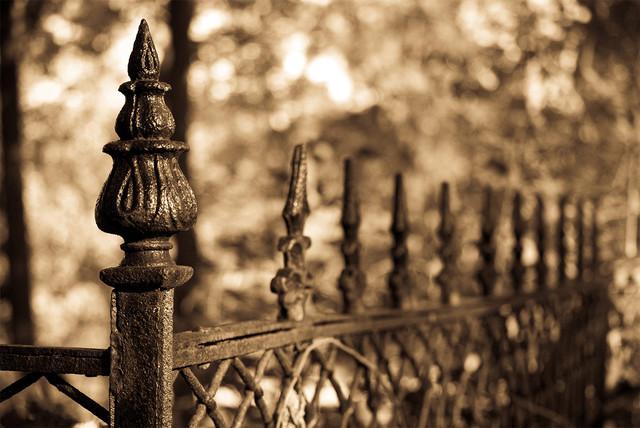 """Antique Fence"" Sepia Photograph Unframed Wall Art Print"