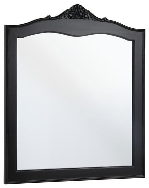 """Violet 48"""" Antique Black Bathroom Mirror Traditional"""
