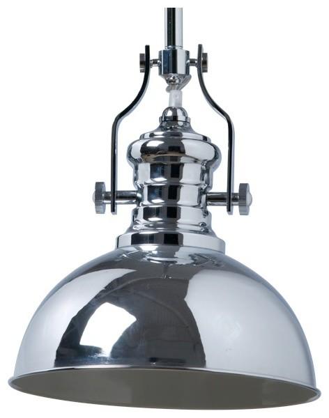 Parisian Pendant Light In Chrome Industrial Pendant