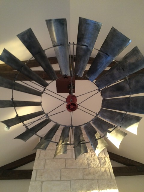 8 Windmill Ceiling Fan Reproduction Vintage Finish Rustic
